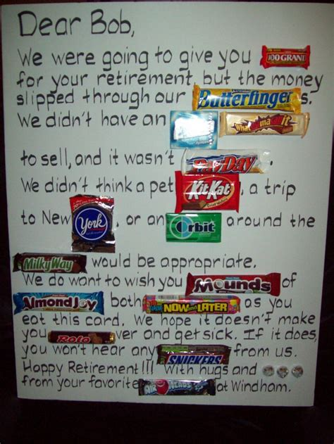 Retirement Party Candy Poster  Just Bcause. Free Photography Gift Certificate Template. Travel Brochure Template Free. Software Engineer Resume Template. Graduation Gift Ideas For Girlfriend. Valentines Day Cards Template. Good Sample Senior Executive Resume. Business Flyers Template Free. Best Jobs For Highschool Graduates