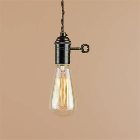 in pendant light with edison light bulb 10 foot cord