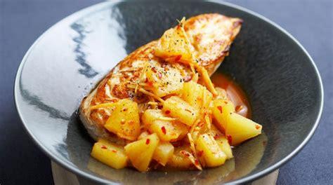 cuisiner des blancs de poulet moelleux poulet au miel soja et ananas cuisine ta mère