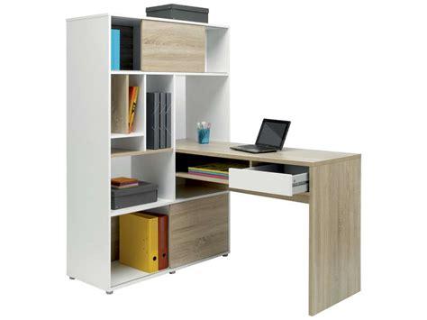 rangement bureau conforama bureau 100 cm rangement klass coloris blanc chêne