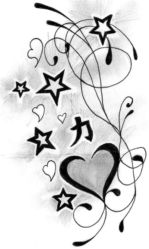 Heart n Stars Tattoo Designs » Tattoo Ideas