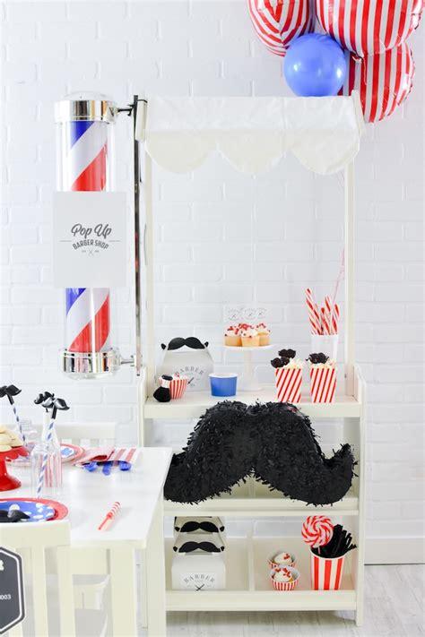 karas party ideas pop  barbershop birthday party