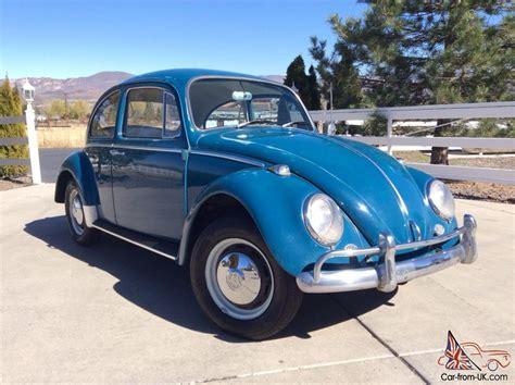 volkswagen bug blue original 1966 volkswagen vw bug beetle sea blue sedan new
