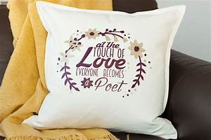 use system fonts to make this typography pillow cricut