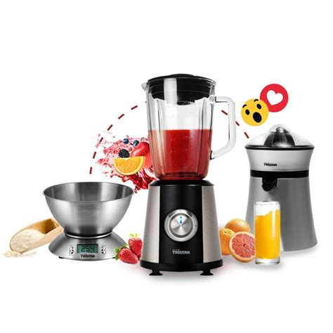 pack cuisine pack sliver 3 en 1 blender press agrume balance de