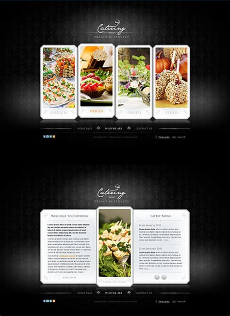 catering html template  website templates