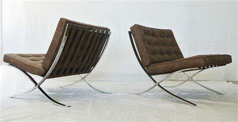 newly upholstered barcelona style chairs 1970s for sale