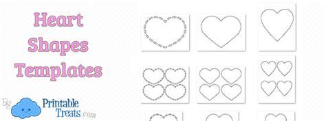 heart shapes template printable treatscom