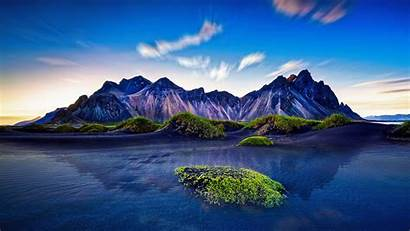 Iceland Mountains Mountain Nature Exposure Landscape Hdr
