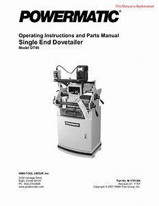 Single End Dovetailer Dt45 Manuals
