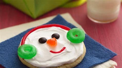 easy snowman cookies recipe  betty crocker