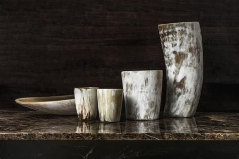 Ash Candle Container by Large Horn Kitchen Container The Log And Leather