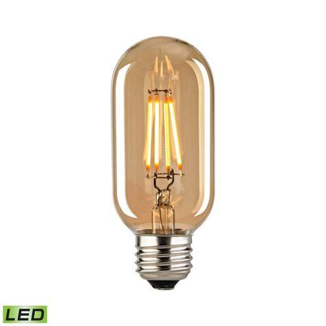 filament medium led bulb with light gold tint tn 75861