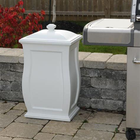 storage container for kitchen mayne mansfield 22 gal white trash can storage bin 5861 w 5861