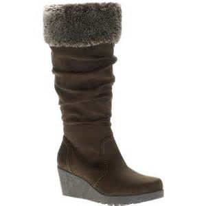 womens boots walmart faded 39 s lorna faux fur cuff sueded boots shoes walmart com