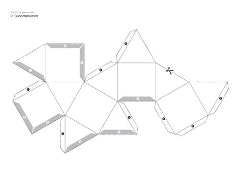 truncated cuboctahedron template how to make faceted candles