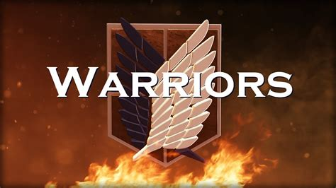attack  titan amv warriors imagine dragons youtube