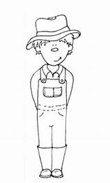 Farmer Coloring Printable Pages Boy Farm Sheet Farmers Boys Google Colouring Clipart Wife Animals Grace sketch template