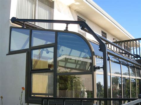 curved straight greenhouse awning installation los