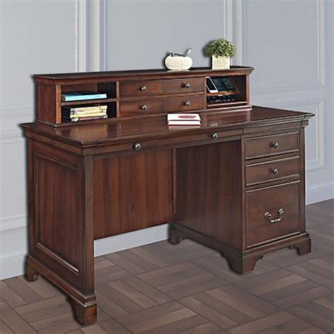 bed bath and beyond desk l belcourt 54 quot pedestal desk and hutch bed bath beyond