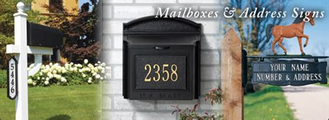 Locate the module number in the top left hand corner of the community mailbox. Mailboxes : Address Post Signs : Mailbox Decorations - Brass Gallery