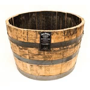 25 in dia oak whiskey barrel planter b100 the home depot