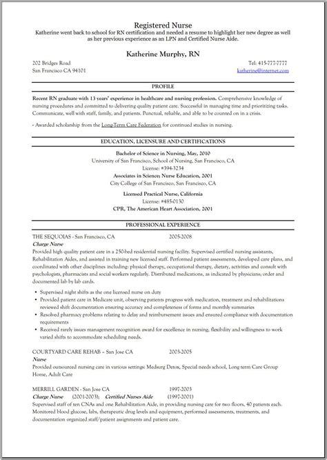 registered nurse resume rehab education nursing resume