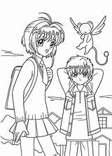 Coloring Pages Friends Sakura Friend Anime Printable Manga Card Drawings Colouring Bff Captor Easy Teen Template Cardcaptor Couples Forever Popular sketch template