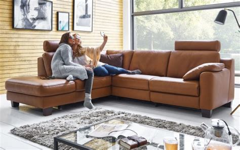 hukla wohnlandschaft sofa concept  tabac von hardeck