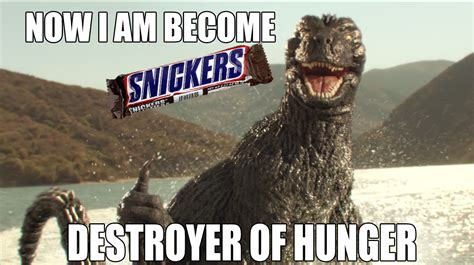 Godzilla Memes - godzilla snickers meme by awesomeness360 on deviantart
