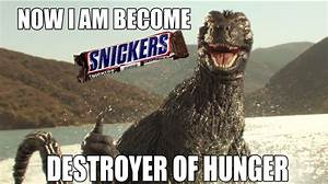Godzilla Snickers meme by Awesomeness360 on DeviantArt