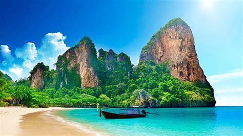 Railay Beach Near Krabi Thailand HD wallpaper