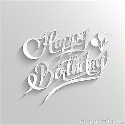 happy birthday lettering handmade calligraphy happy birthday lettering greeting card stock vector 84771