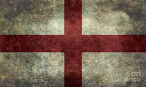 Flag Of England St Georges Cross Vintage Version To Scale ...