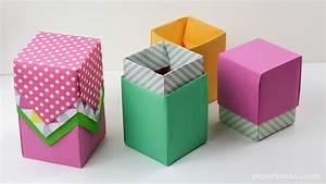 Tall Origami Box - Video Tutorial - Paper Kawaii