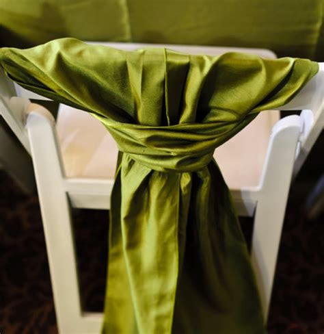 no to chair covers but yes to chair sashes skagit
