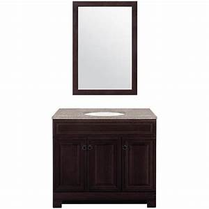 Lowes bathroom vanity cabinets shop allen roth sycamore for Kitchen cabinets lowes with free custom stickers