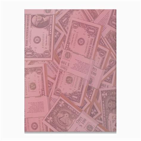 Pink Dollar Bills Canvas Print in 2021 | Canvas prints ...