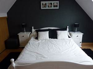 idee deco chambre grise 3 chambre noire blanche et With chambre blanche et grise