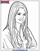 Coloring Pages Selena Gomez Printable Drawing Cartoon Singer Famous Colouring Onlycoloringpages Template Sheets Popular Getdrawings Coloringhome sketch template