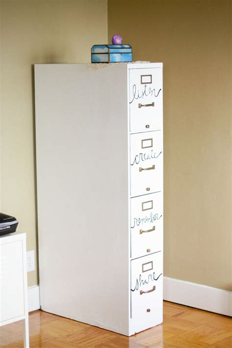 how to dress up a metal file cabinet file cabinet restyle a beautiful mess