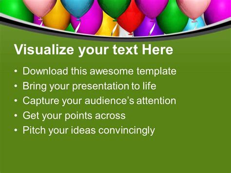 beautiful party balloons celebration powerpoint templates