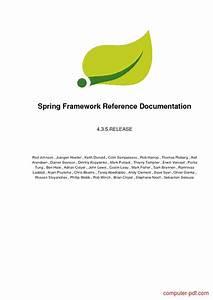 Pdf  Spring Framework Reference Documentation Free