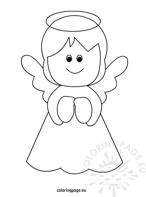 printable angel coloring page