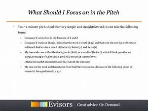 mastering the stock pitch With stock pitch template