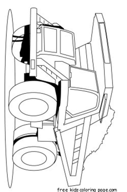 print  peterbilt semi truck coloring pages  kidsfree