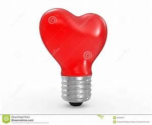 Lampe En Forme D Ampoule : ampoule de lampe en verre de forme du coeur 3d illustration stock illustration du brillant ~ Teatrodelosmanantiales.com Idées de Décoration