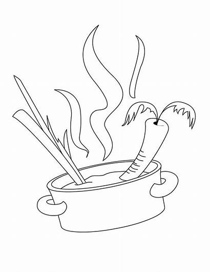 Coloring Cooking Pot Pages Cook Chefs Plato