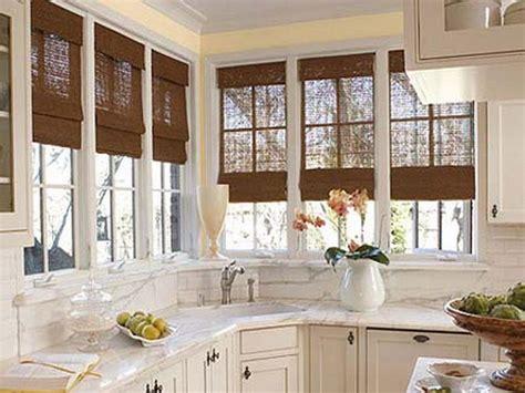 kitchen window blinds ideas bloombety window treatment ideas for kitchen bay window