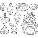 Coloring Sweets Candy Sweet Pages Printable Cakes Surfnetkids Tooth sketch template